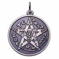 Pentagram mit Tetragrammaton nach Elivas Levi