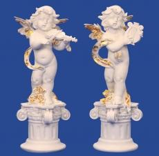 Engel auf Säule, rechts - 38 cm
