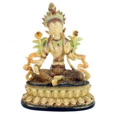 Grüne Tara, weiblicher Buddha - 17 cm