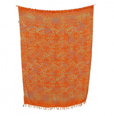 Sarong: orange gemustert