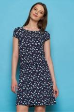 Jersey-Kleid - navy ray
