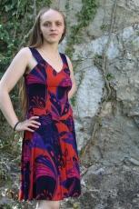 Kleid - rot/blau - fairtrade