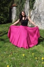 Baumwoll-Rock: weit - pink