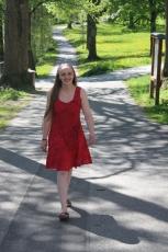 Kleid - rot geblümelt - fairtrade