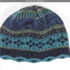 Wollmütze Lia - nachtblau/bunt