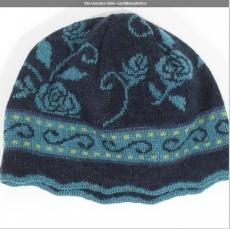 Wollmütze Bille - nachtblau/türkis