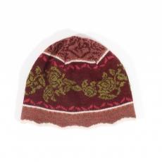 Wollmütze Sofia - rosenholz/burgunder