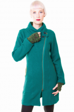 Wollmantel Merino - green