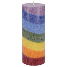 7 Chakra Regenbogen-Kerze aus Biostearin