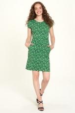 Jersey-Kleid kurz - leaf