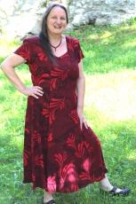 Sommerkleid Heide - dunkelrot