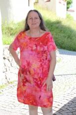 Sommerkleid Leinen - gebatikt