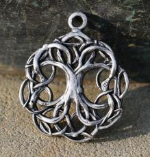 Keltischer Lebensbaum - vergoldet