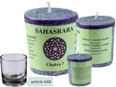 Chakra Stearin Duftkerze Sahasrara (Kronenchakra)