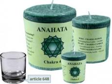 Chakra Stearin Duftkerze Anahata (Herzchakra)