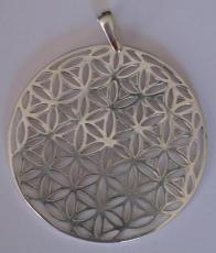 Blume des Lebens in Silber - 4 cm