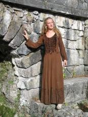 Kleid geschnürt: braun - Gr. S/M und XXL