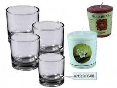 Gläser für Chakra-Kerzen