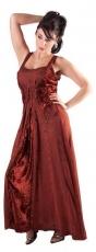 Kleid geschnürt: rost-rot mit Samteinsatz