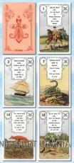 Lenormandkarten Rote Eule - 36 Karten