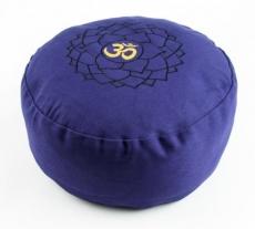 Meditationskissen - blau mit OM