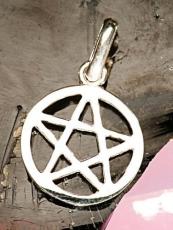Pentagramm mit Rand - 1 cm