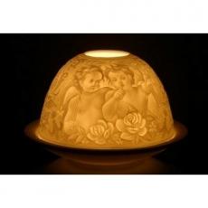 """Porzellan-Teelichthalter """"Flüsternde Engel"""""""