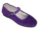 China-Samtschuhe - violett