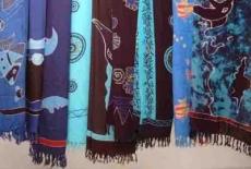 Sarong: blaue Farben