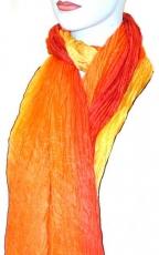 Seidenschal supercrash: orange-gelb-rot