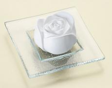 Duftstein: Rose mit Glasteller