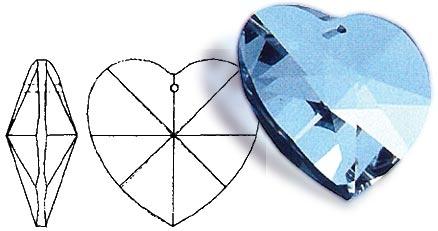 Regenbogen-Kristall: Herz - 30 mm