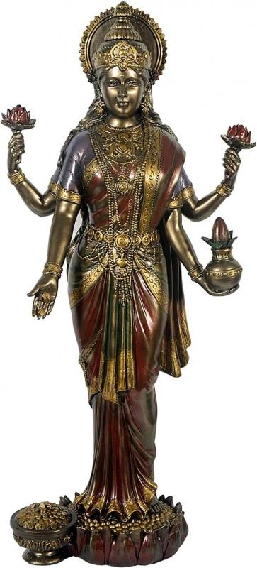 Lakshmi- Ind. Göttin der Liebe - bronziert