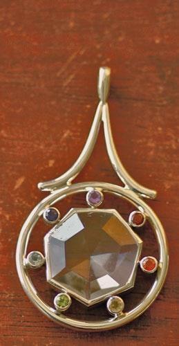 Chakra-Rad mit Bergkristall