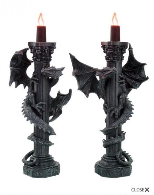 Drachen-Kerzenständer - Set