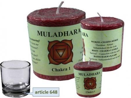 Chakra Duftkerze Muladhara (Wurzelchakra)