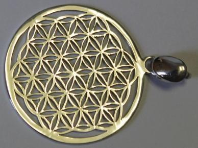Blume des Lebens in Silber - 3,5 cm
