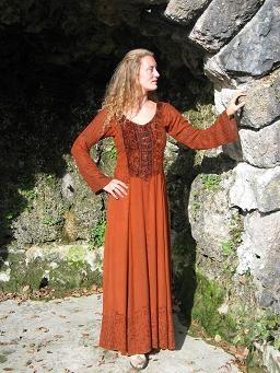 Kleid geschnürt: rot Gr. S/M und XXL