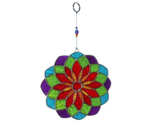 Sun Catcher: Mandala blau