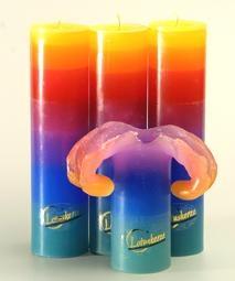 Lotuskerze RAINBOW - 28cm