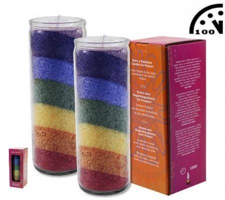 7 Chakra Regenbogen-Kerze -Duft neutral