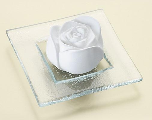 Duftstein Rose m. Glasteller