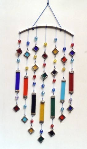 Sun Catcher Mobile mit Rauten