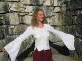 Bluse geschnürt: weiß