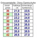 China-Samtschuhe