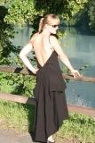 Kleid mit Spagetti-Trägern - schwarz