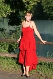 Kleid mit Spagetti-Trägern - rot