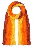Seidenschal supercrash: orange-gelb-rotbraun