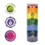 7 Chakra Kerze mit ätherischer Öle