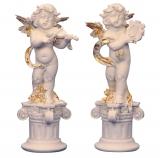 Engel auf Säule, links - 38 cm